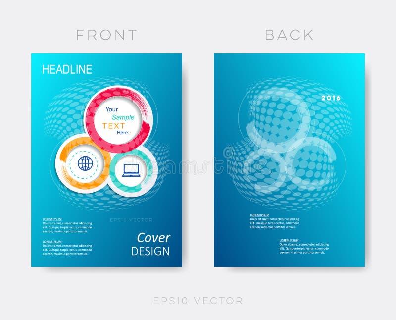 Het creatieve blauwe moderne malplaatje van het brochureontwerp royalty-vrije illustratie