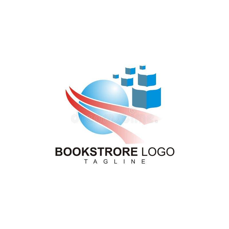 Het creatieve boekhandelembleem klaar te gebruiken vector illustratie
