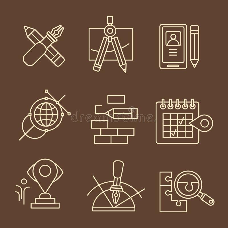 Het creatieve Concept van het Ontwerpproces stock illustratie
