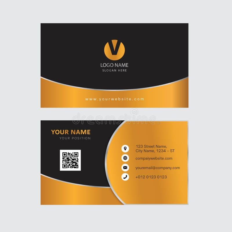 Het creatieve gouden ontwerp van het kleurenadreskaartje royalty-vrije stock afbeelding