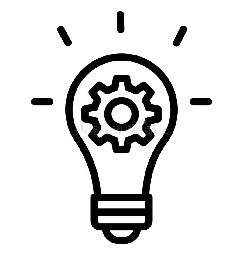 Het creatieve idee isoleerde Vectorpictogram dat zich gemakkelijk kan wijzigen of uitgeven stock illustratie