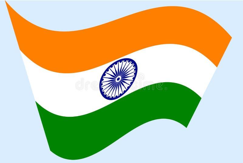 Het creatieve nationale ontwerp van de vlagkleur op glanzende achtergrond voor de Indische viering van de Onafhankelijkheidsdag royalty-vrije illustratie