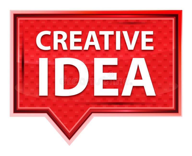 Het creatieve nevelige Idee nam roze bannerknoop toe vector illustratie