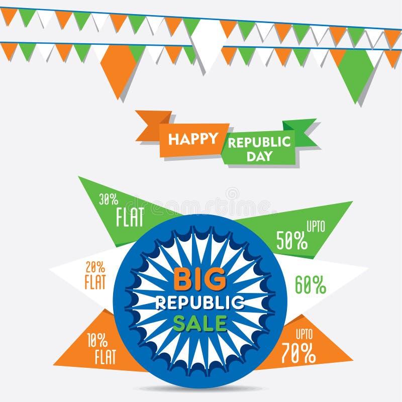 Het creatieve ontwerp van de de detailhandelsbanner van de Webrepubliek royalty-vrije illustratie