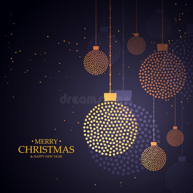 Het creatieve ontwerp van Kerstmisballen dat met kleine punten wordt gemaakt stock afbeelding