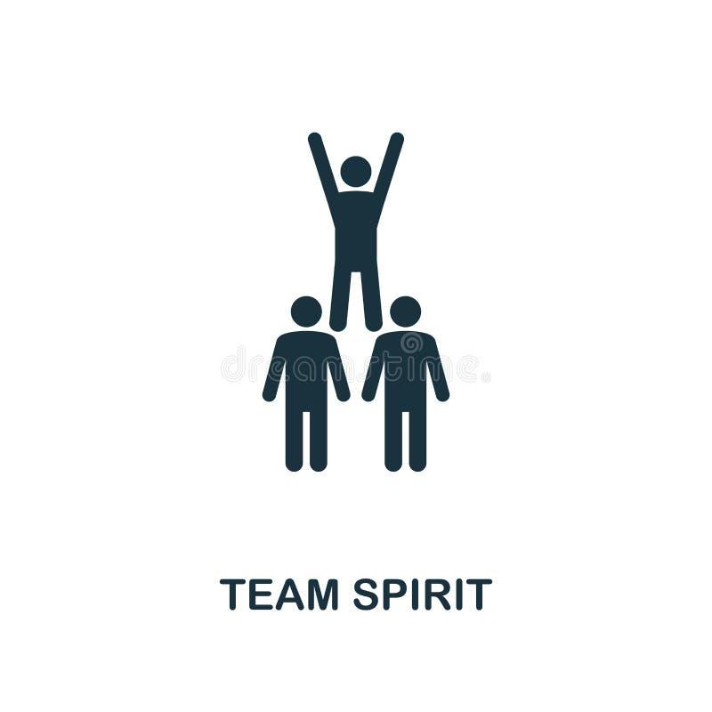 Het creatieve pictogram van Team Spirit Eenvoudige elementenillustratie Team Spirit-het ontwerp van het conceptensymbool van zach stock illustratie