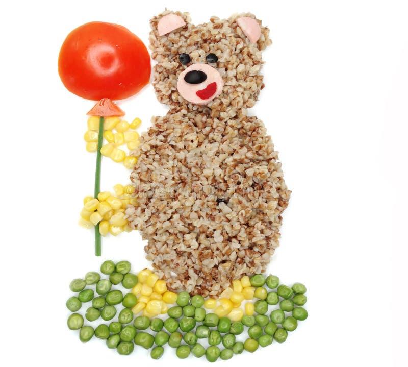 Het creatieve plantaardige voedseldiner draagt vorm stock afbeelding