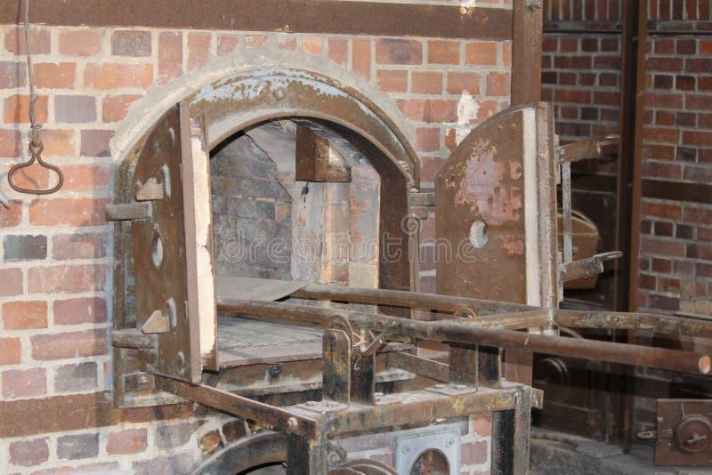 Het crematoriumoven van het Dachauconcentratiekamp royalty-vrije stock afbeeldingen