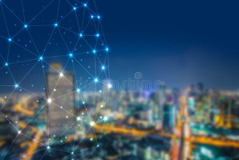 Het cryptocurrenciesconcept van het Blockchainnetwerk, is een onafbreekbaar digitaal grootboek van economische transacties royalty-vrije stock afbeelding