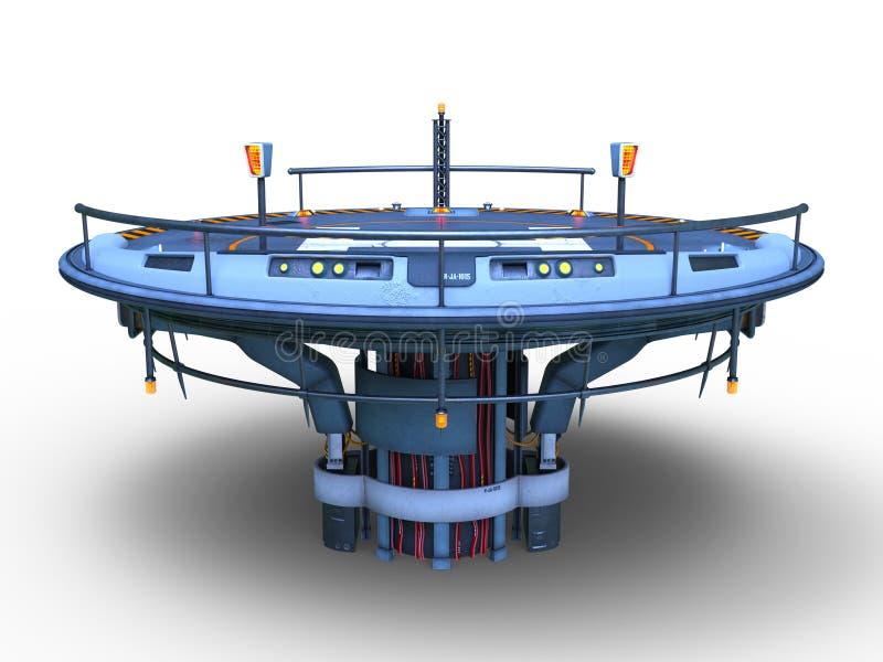 het 3D CG-teruggeven van helihaven royalty-vrije illustratie
