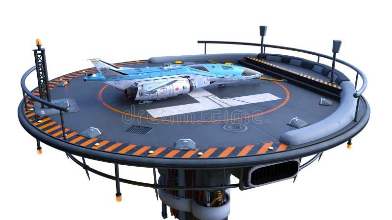 het 3D CG-teruggeven van helihaven vector illustratie