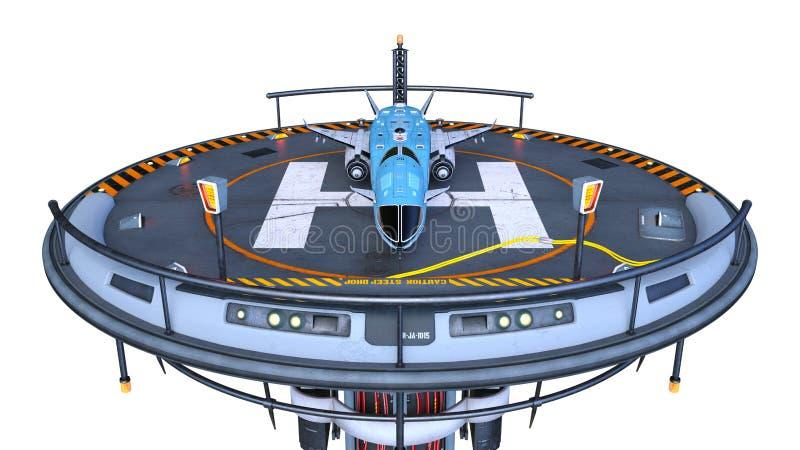 het 3D CG-teruggeven van helihaven stock illustratie