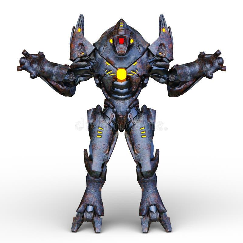 het 3D CG-teruggeven van Humanoid vector illustratie