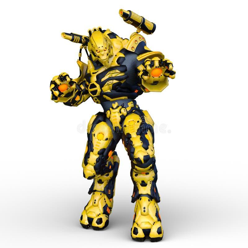 het 3D CG-teruggeven van Humanoid royalty-vrije illustratie