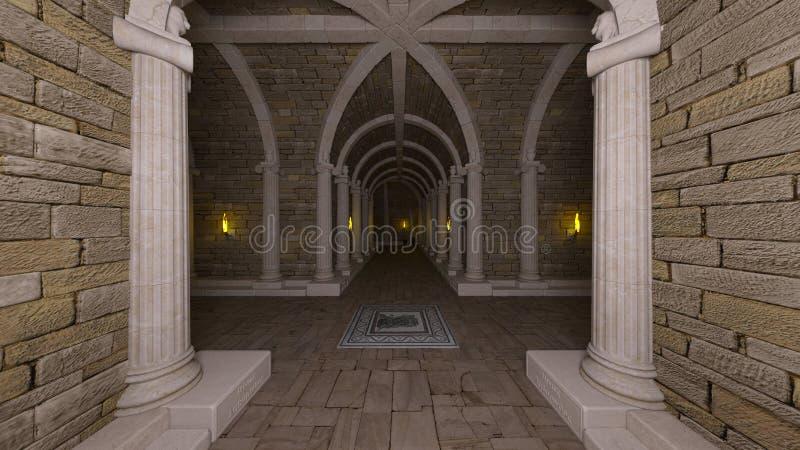 het 3D CG-teruggeven van oude ru?nes vector illustratie