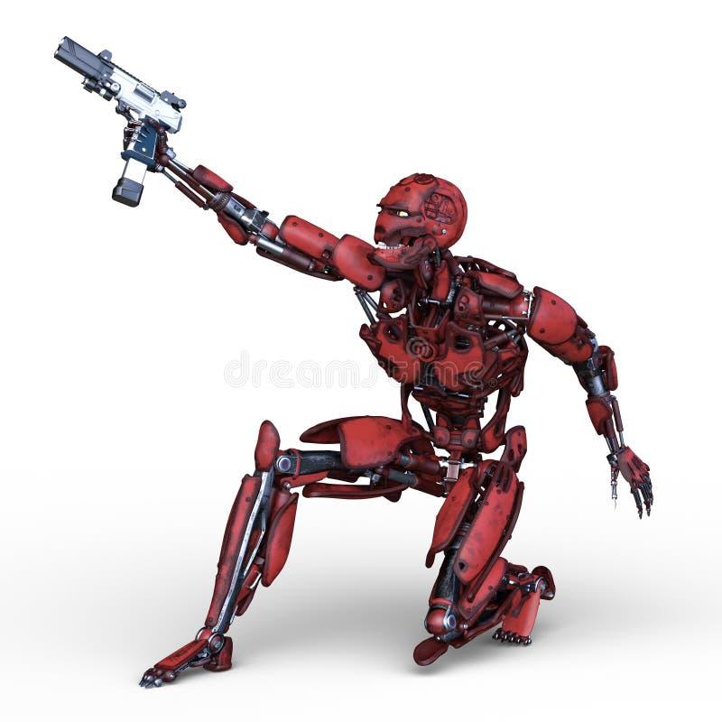 het 3D CG-teruggeven van robot stock illustratie