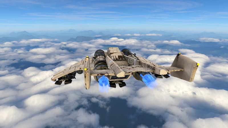 het 3D CG-teruggeven van vechtersvliegtuigen vector illustratie