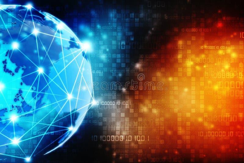 het 2d communautaire concept van het illustratienetwerk Gemengde media, het Concept van de Netwerkverbinding stock illustratie