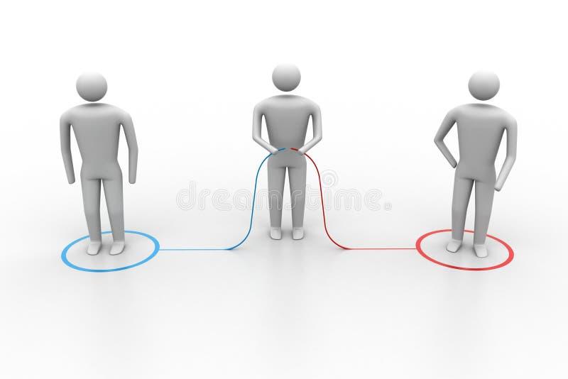 het 3d mensen verbinden vector illustratie