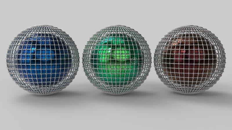 het 3d teruggeven Abstracte 3d vormen stock afbeelding