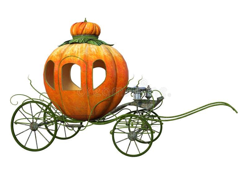het 3D Teruggeven Cinderella Carriage op Wit stock illustratie