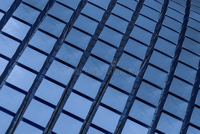 het 3d teruggeven, de abstracte achtergrond van kubusbakstenen, donkere achtergrond stock fotografie