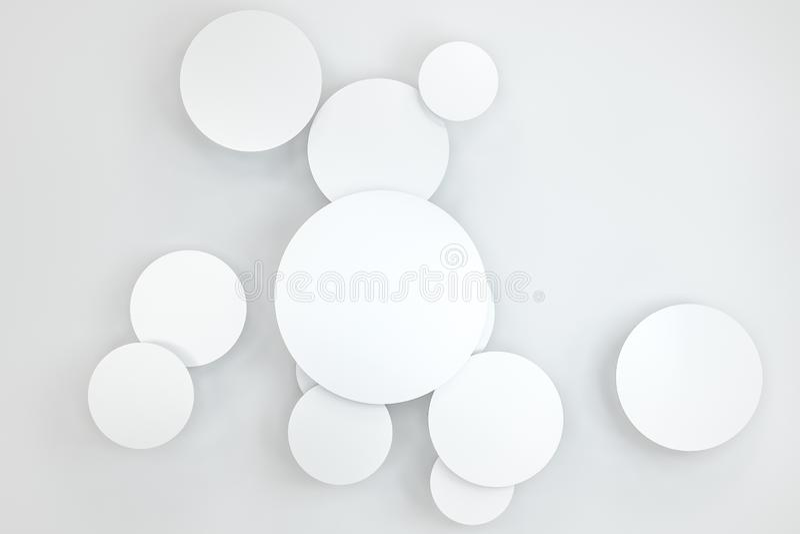 het 3d teruggeven, de kaartmalplaatje van het cirkelkader vector illustratie