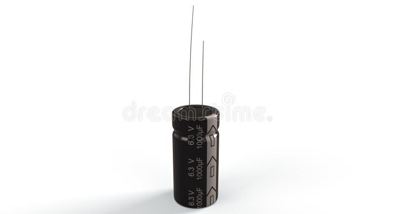 het 3D teruggeven - elektrolytische condensator stock afbeelding