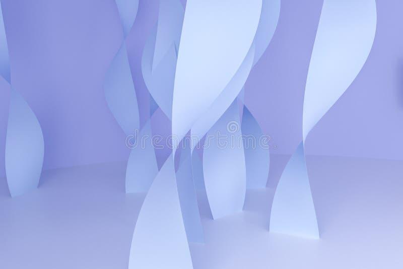 het 3d teruggeven, purpere vlotte krommenachtergrond royalty-vrije illustratie