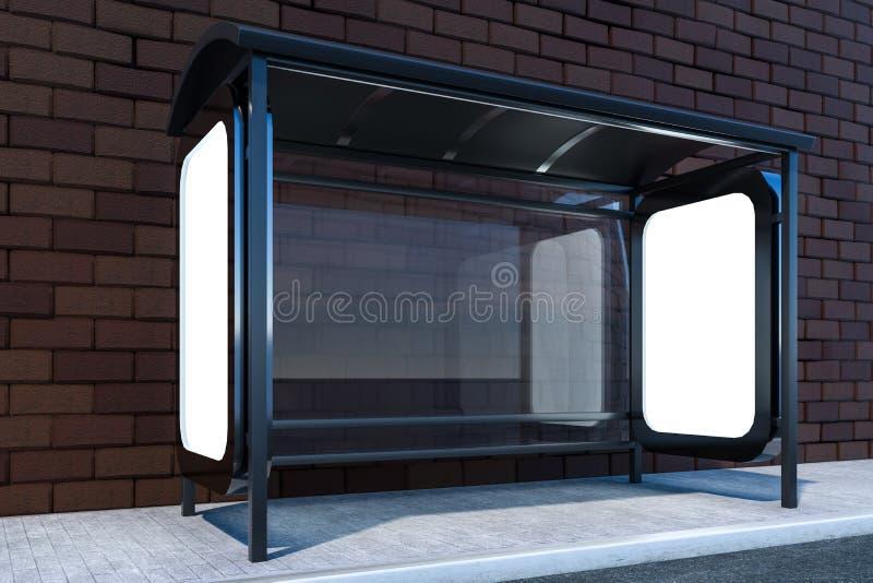 het 3d teruggeven, reclameaanplakbord aan de kant van weg vector illustratie