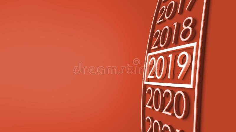 het 3d teruggeven van 2019 vector illustratie