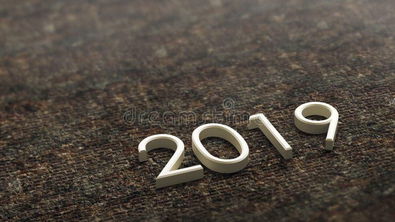 het 3d teruggeven van 2019 stock illustratie