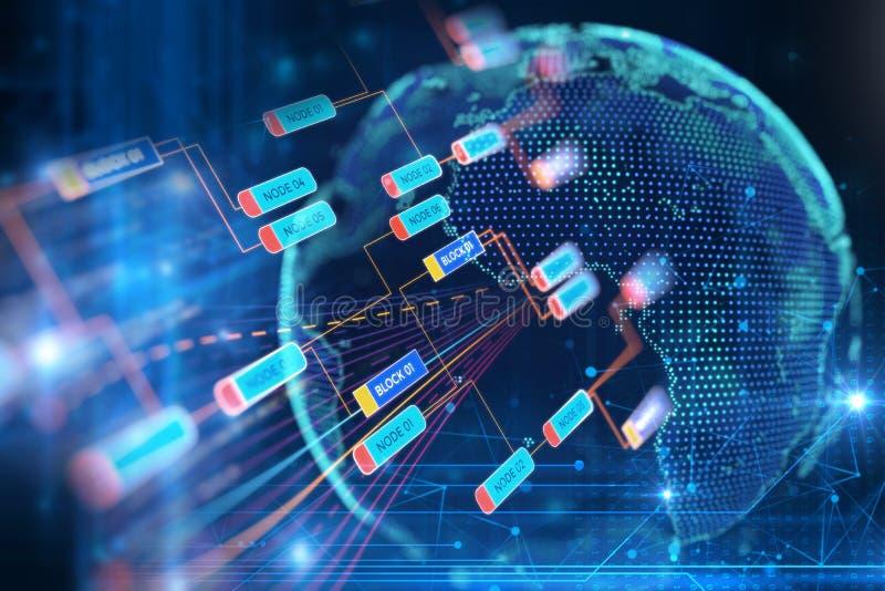 het 3d teruggeven van aarde futuristische technologie vector illustratie