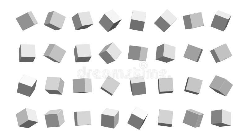 het 3d teruggeven van Abstracte Achtergrond islated met wit royalty-vrije illustratie