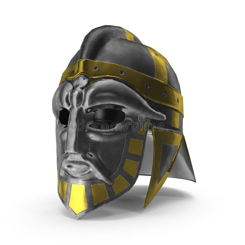 het 3D teruggeven van de middeleeuwse helm van Viking royalty-vrije stock foto