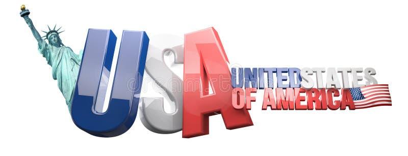 Het 3D Teruggeven van de V.S. de Verenigde Staten van Amerika royalty-vrije illustratie