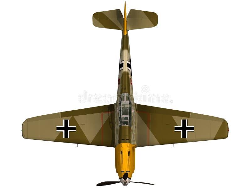 het 3d Teruggeven van een BF109E - Hoogste Mening royalty-vrije illustratie
