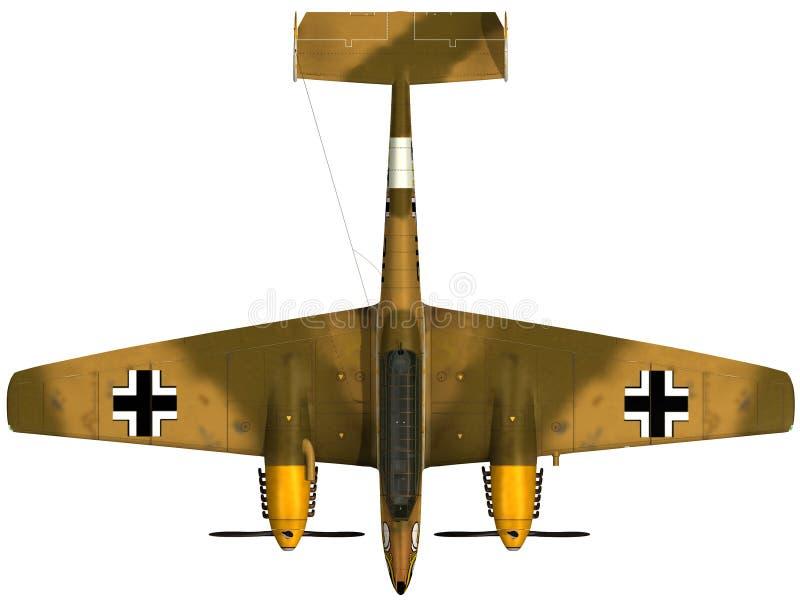 het 3d Teruggeven van een BF110 - Hoogste Mening royalty-vrije illustratie