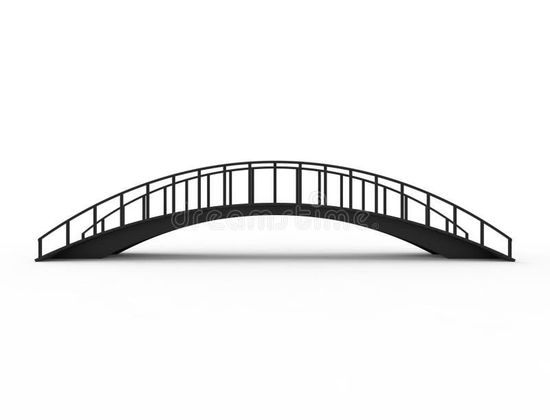 het 3D teruggeven van een brug op witte achtergrond wordt geïsoleerd die vector illustratie