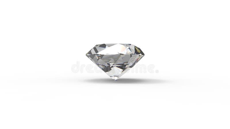 het 3d teruggeven van een diamant die op witte achtergrond wordt geïsoleerd vector illustratie