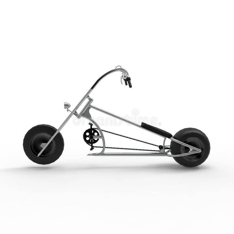 het 3d teruggeven van een fiets op een geïsoleerde achtergrond royalty-vrije illustratie