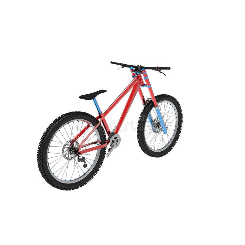 het 3d teruggeven van een fiets op een geïsoleerde achtergrond stock illustratie
