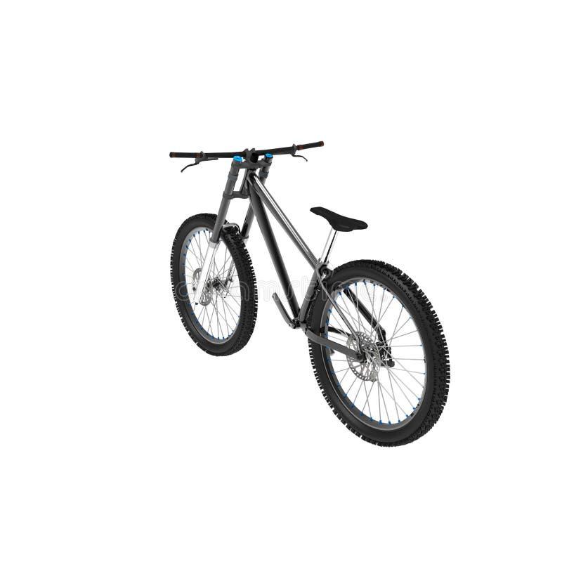 het 3d teruggeven van een fiets op een geïsoleerde achtergrond vector illustratie