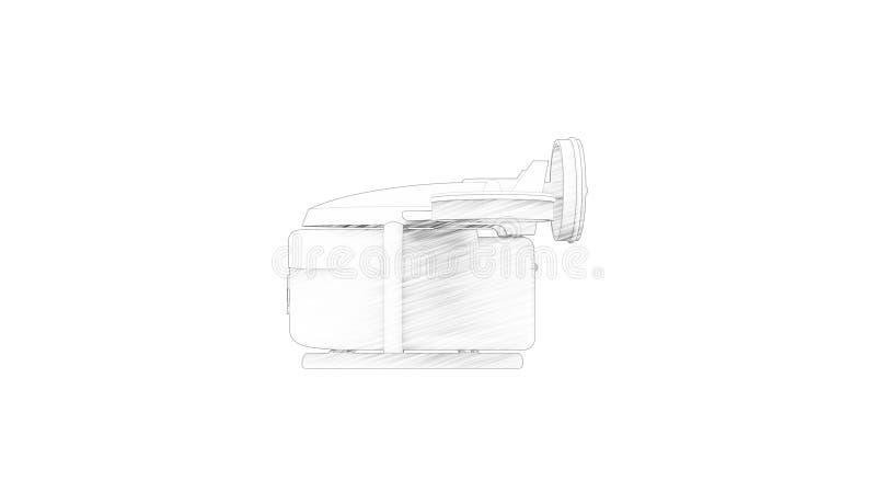 het 3d teruggeven van een medische hommel die op witte achtergrond wordt geïsoleerd stock illustratie