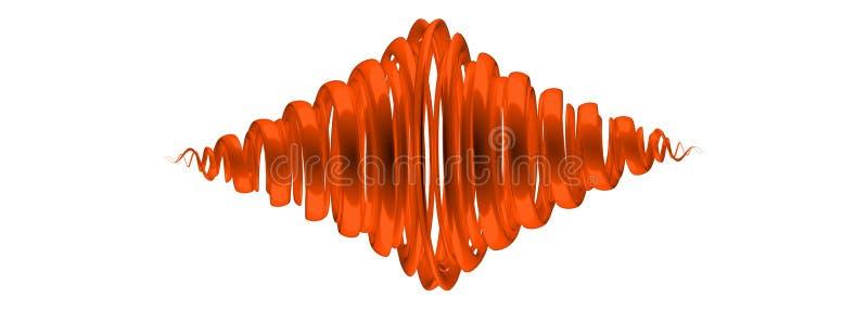 het 3d teruggeven van een oranje samenvatting op witte achtergrond royalty-vrije illustratie