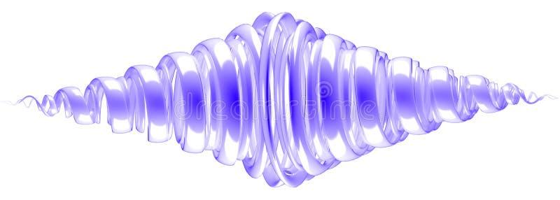 het 3d teruggeven van een samenvatting met bezinning op wit wordt geïsoleerd dat vector illustratie