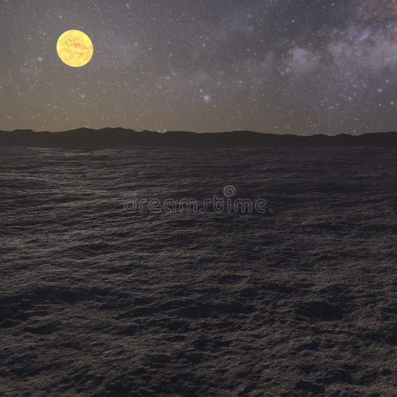 het 3D teruggeven van een vreemd woestijnlandschap vector illustratie