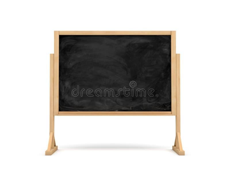 het 3d teruggeven van een zwart bord van de rechthoekschool op een houten die tribune op witte achtergrond wordt geïsoleerd vector illustratie