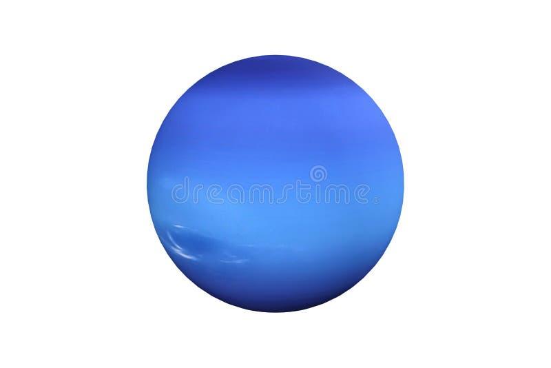 het 3d teruggeven van geïsoleerde de planeet van Neptunus royalty-vrije illustratie