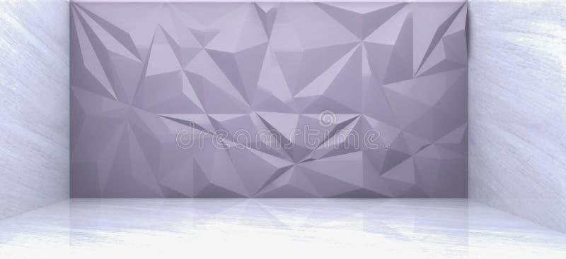 het 3D teruggeven van grijze veelhoekmuur stock illustratie